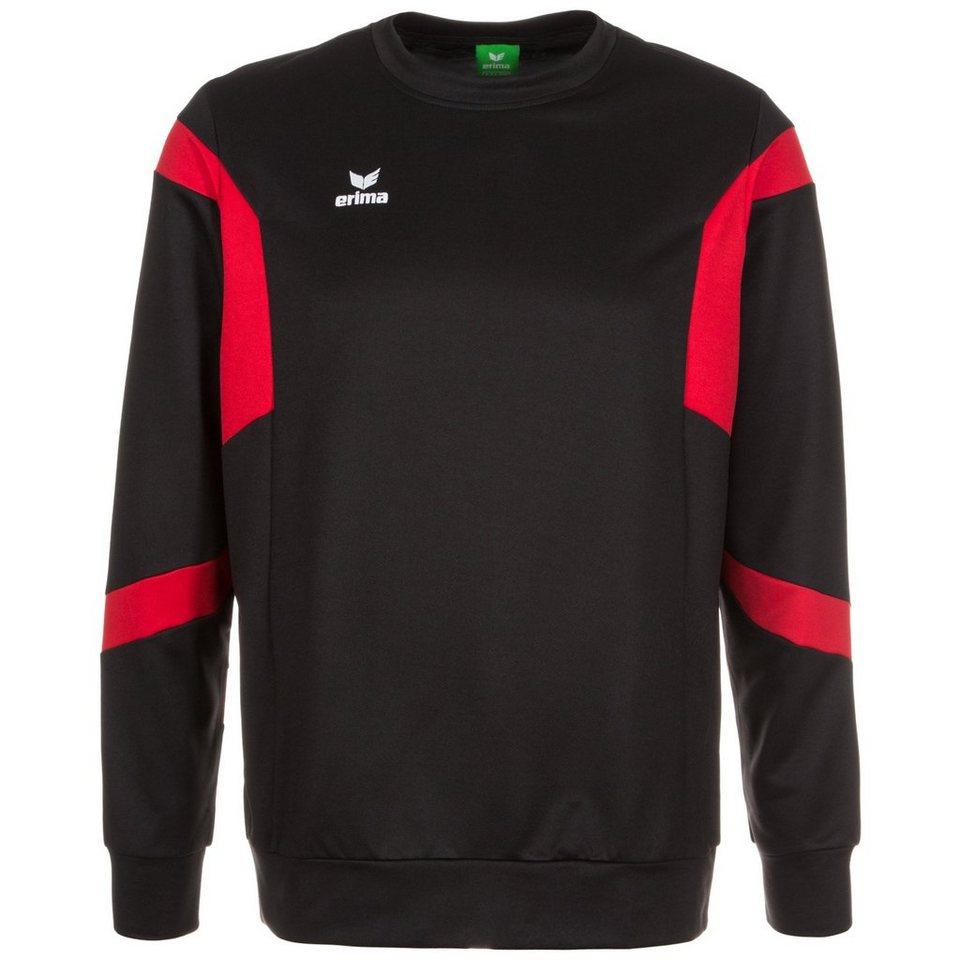 ERIMA Classic Team Trainingssweat Herren in schwarz / rot