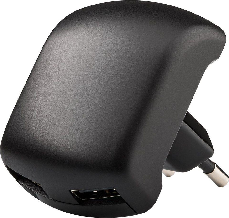 goobay USB-Ladegerät 2,1A »mit 90 Grad Winkel« in schwarz