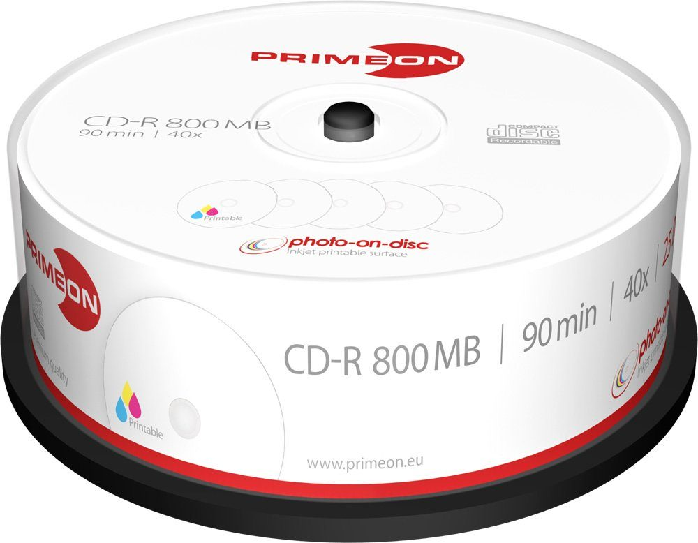 PRIMEON CD-R 90Min/800MB/40x Cakebox (25 Disc)