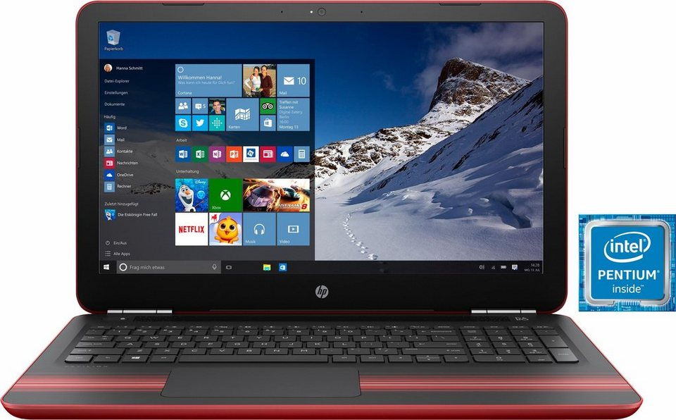 HP Pavilion 15-au02 Notebook, Intel® Pentium™, 39,6 cm (15,6 Zoll), 1000 GB Speicher in rot