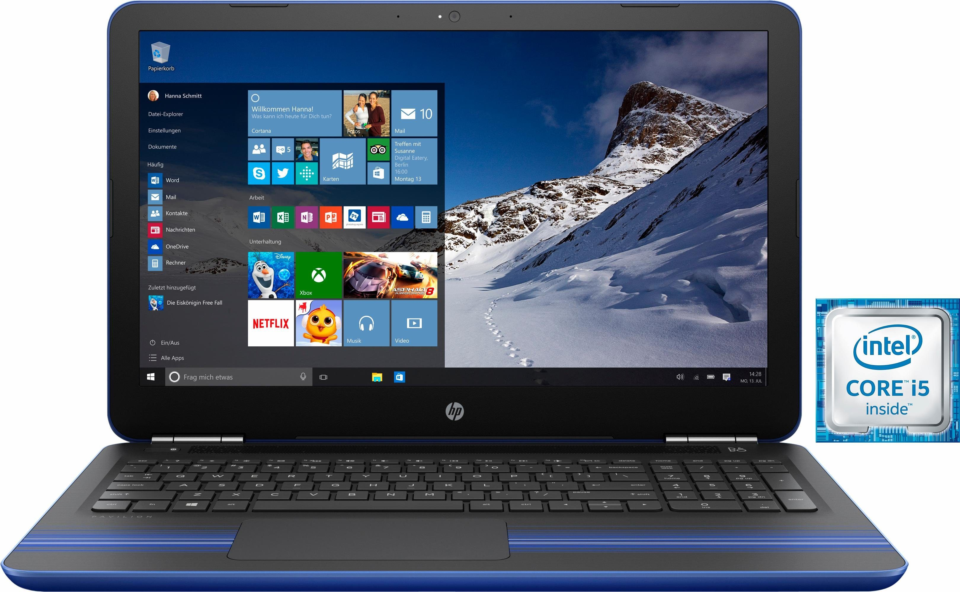 HP Pavilion 15-au023ng Notebook, Intel® Core™ i5, 39,6 cm (15,6 Zoll), 1000 GB Speicher
