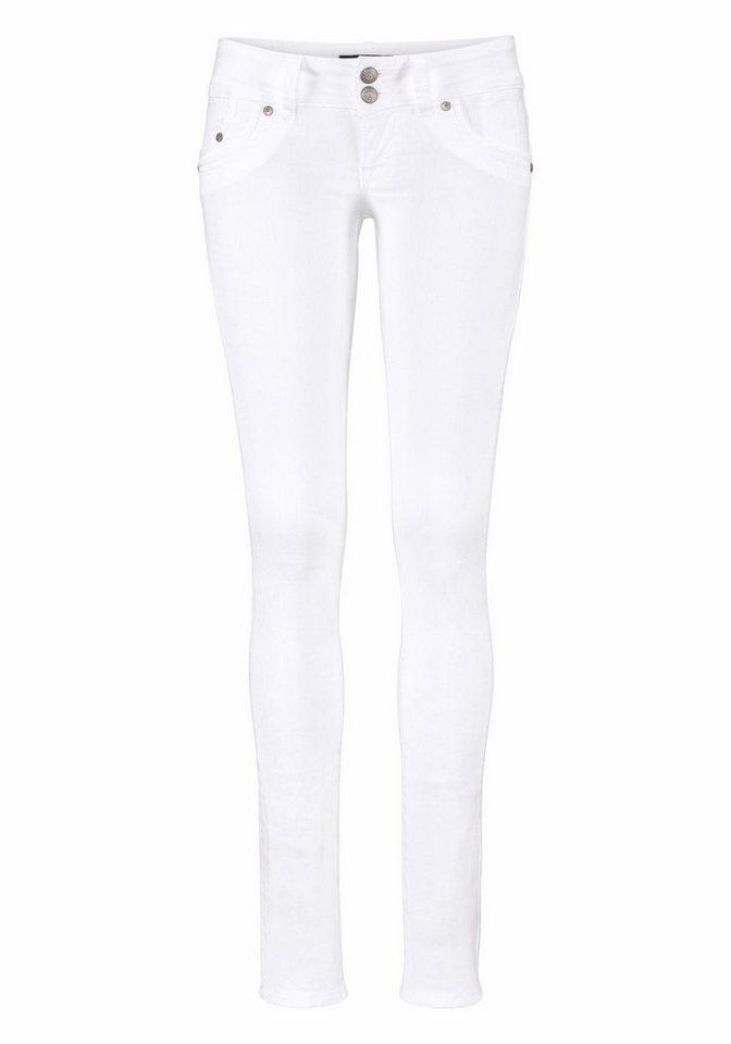 LTB Slim-fit-Jeans »Molly« mit Crinkle-Effekt in weiß