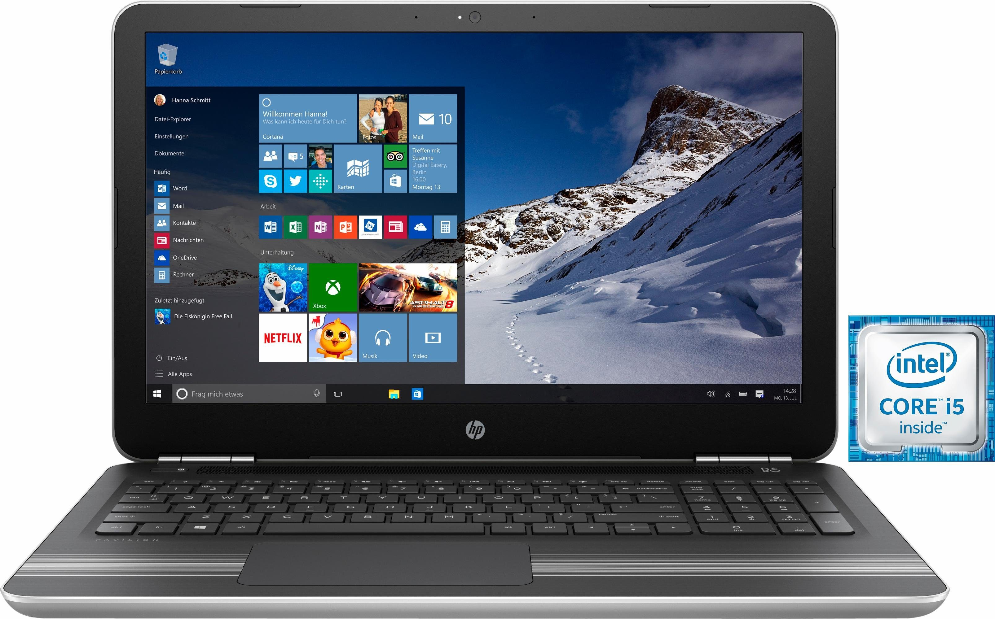 HP Pavilion 15-au010ng Notebook, Intel® Core™ i5, 39,6 cm (15,6 Zoll), 1128 GB Speicher