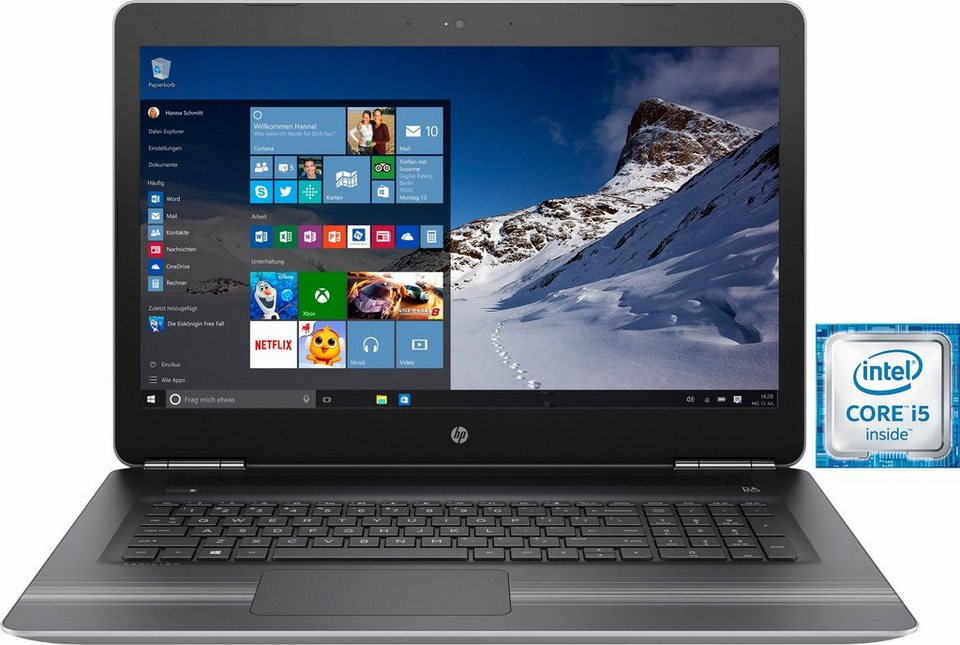 HP Pavilion 17-ab002ng Notebook, Intel® Core™ i5, 43,9 cm (17,3 Zoll), 1128 GB Speicher in silberfarben