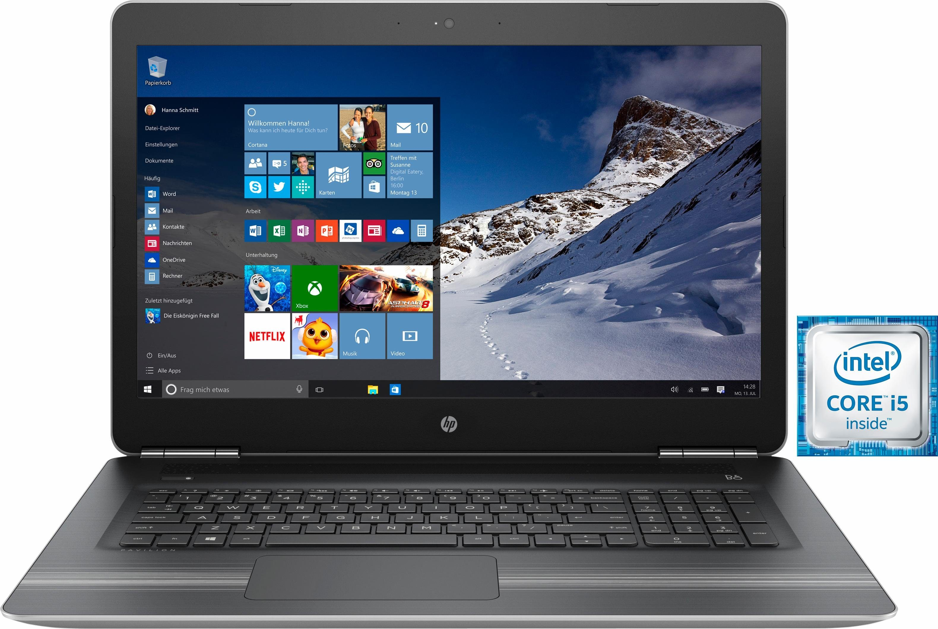 HP Pavilion 17-ab002ng Notebook, Intel® Core™ i5, 43,9 cm (17,3 Zoll), 1128 GB Speicher