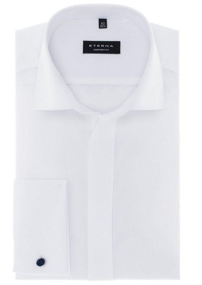 ETERNA Langarm Hemd »COMFORT FIT« in weiß