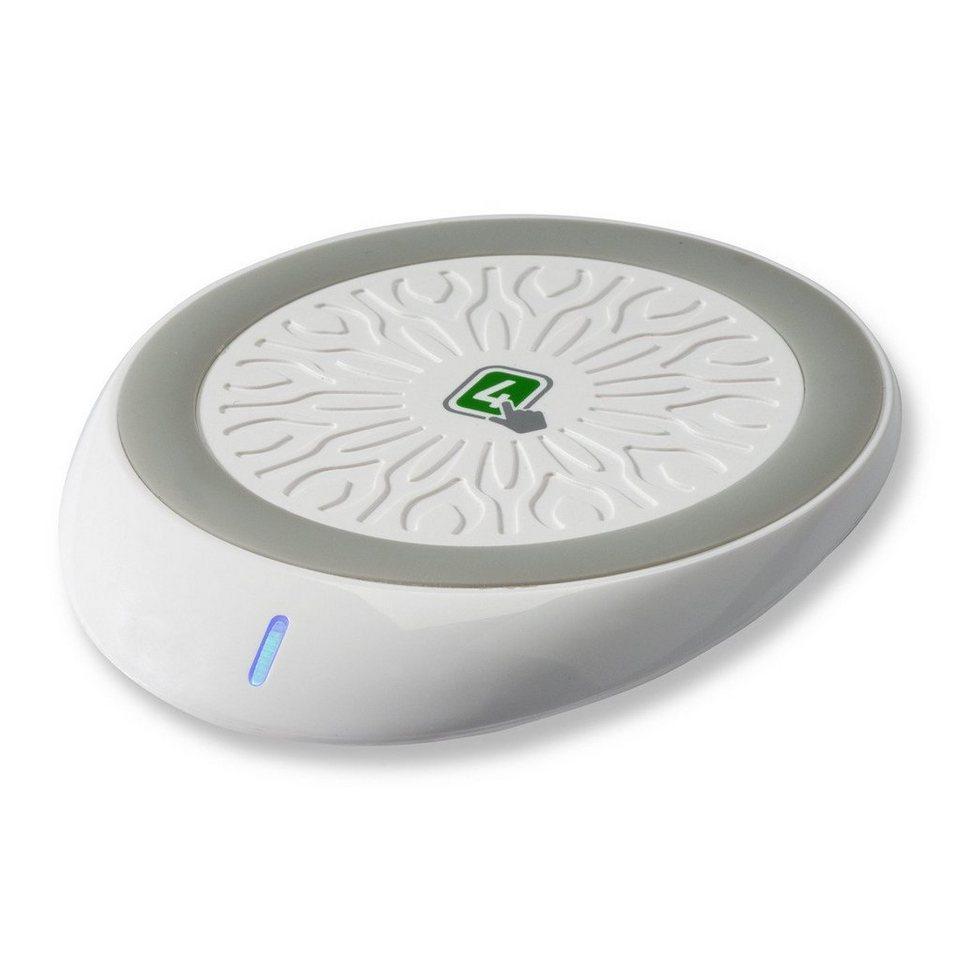 4Smarts Lader »No-Touch Pad zum kabellosen Laden nach Qi« in Weiß-Grau