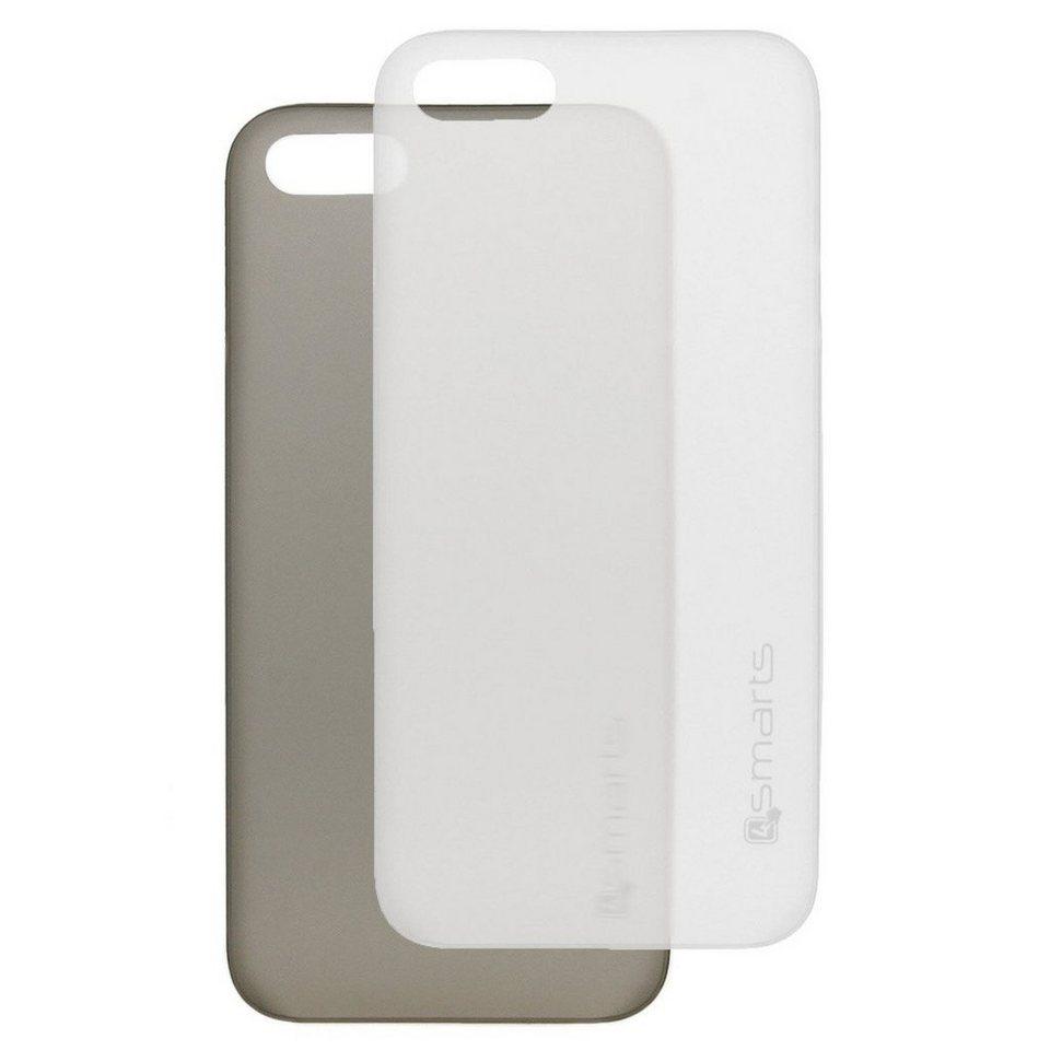 4Smarts Handytasche »BELLEVUE ultra-thin Clip für iPhone 5/5S/SE SET« in Schwarz-Weiß