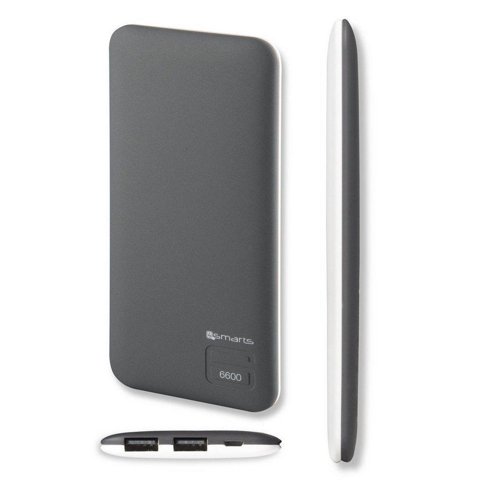 4Smarts Lader »Duos Slim Powerbank 6600 mAh« in Grau-Weiß
