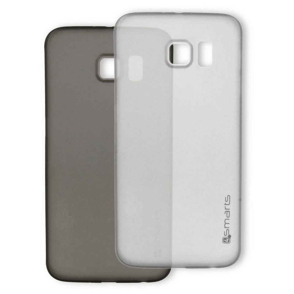4Smarts Handytasche »BELLEVUE ultra-thin Clip für Galaxy S6 edge SET« in Schwarz-Weiß
