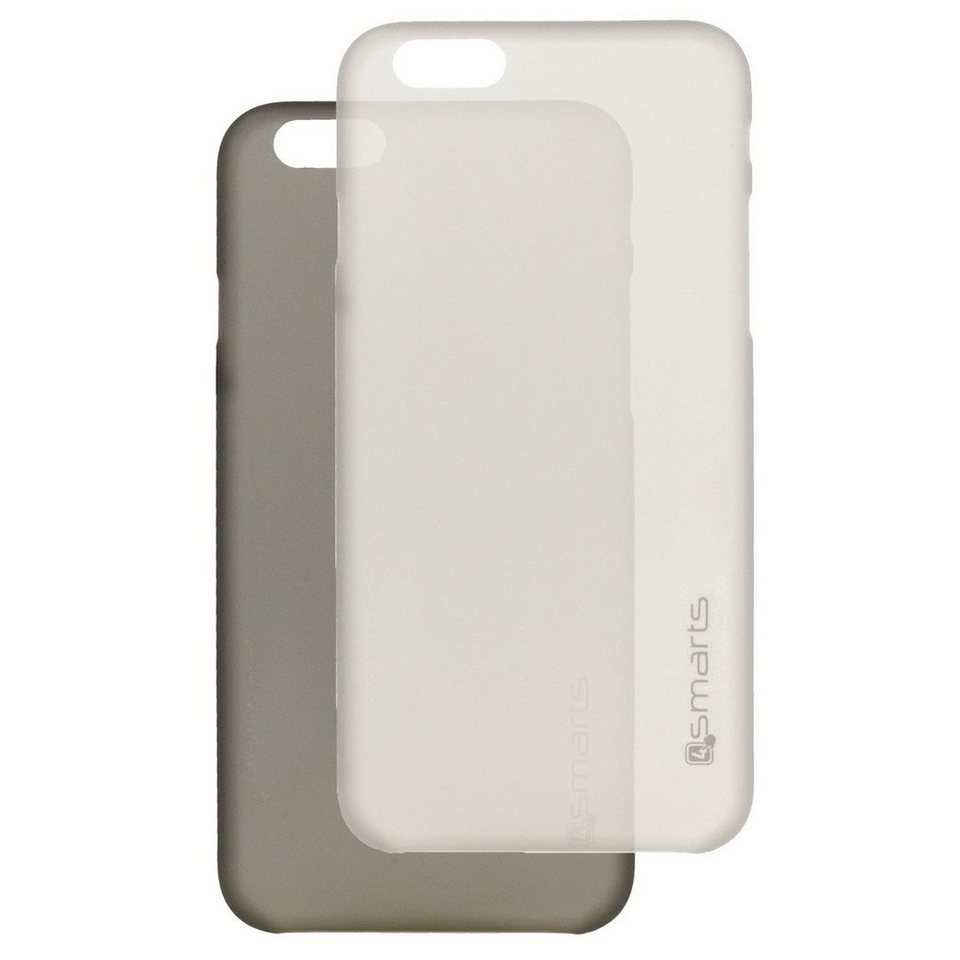 4Smarts Handytasche »BELLEVUE ultra-thin Clip für iPhone 6/6S Plus SET« in Schwarz-Weiß