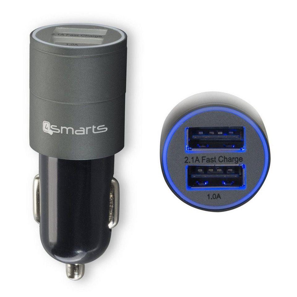 4Smarts Lader »Hybrid 2.0 KFZ-Lader reversible metal 3.1A« in Schwarz