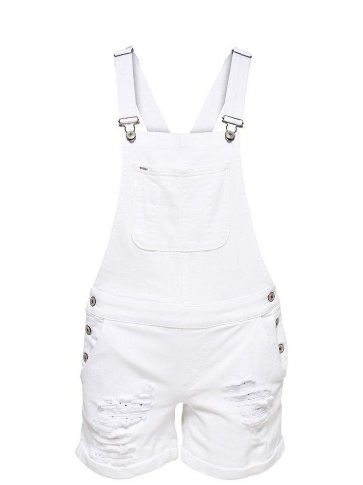 Only Kurzer Denim- Overall in White