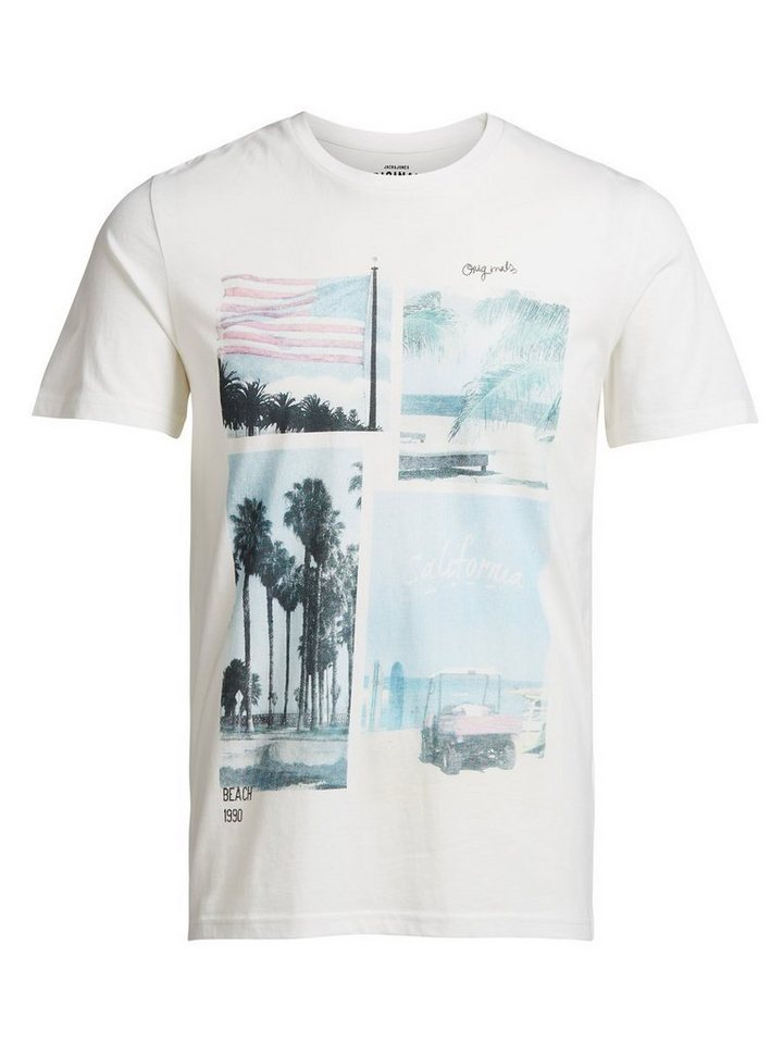 Jack & Jones Tolles Fotoprint- T-Shirt in Cloud Dancer