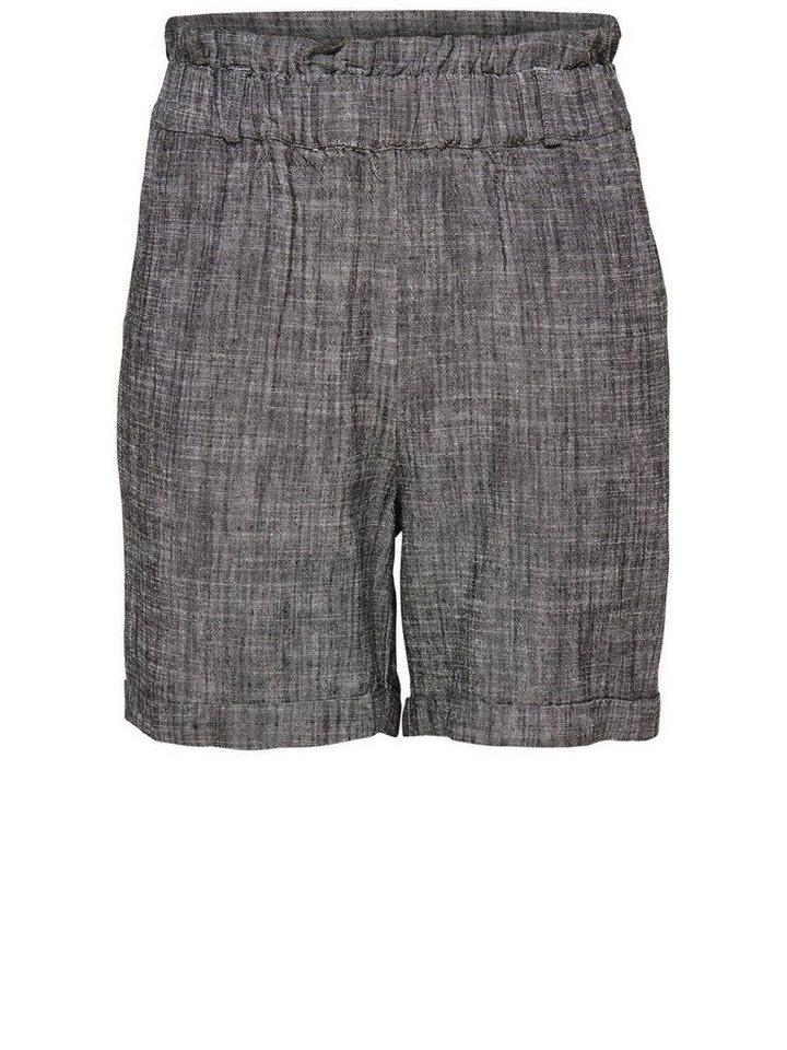 Only Hochtaillierte Shorts in Dark Grey Melange
