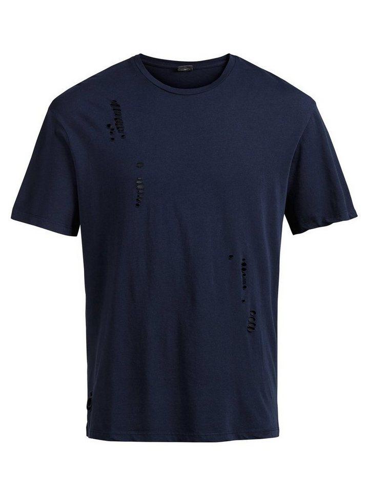 Jack & Jones Geripptes T-Shirt in Navy Blazer