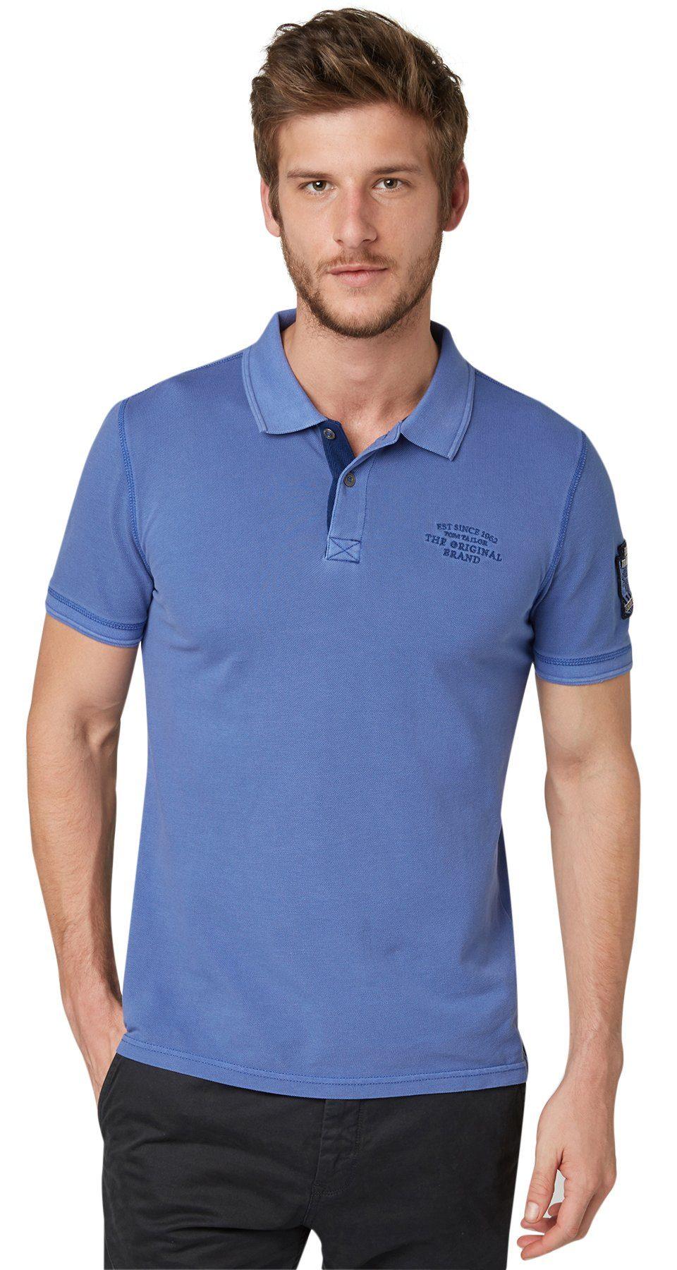 TOM TAILOR Poloshirt »Polo-Shirt mit Ärmel-Aufnäher«