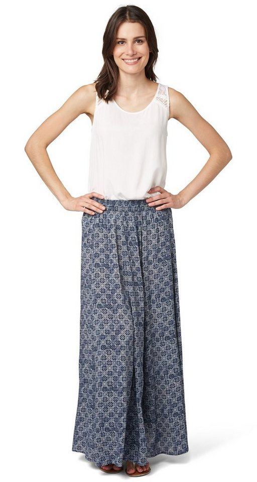 TOM TAILOR Rock »maxi skirt with elastic waistb« in real navy blue