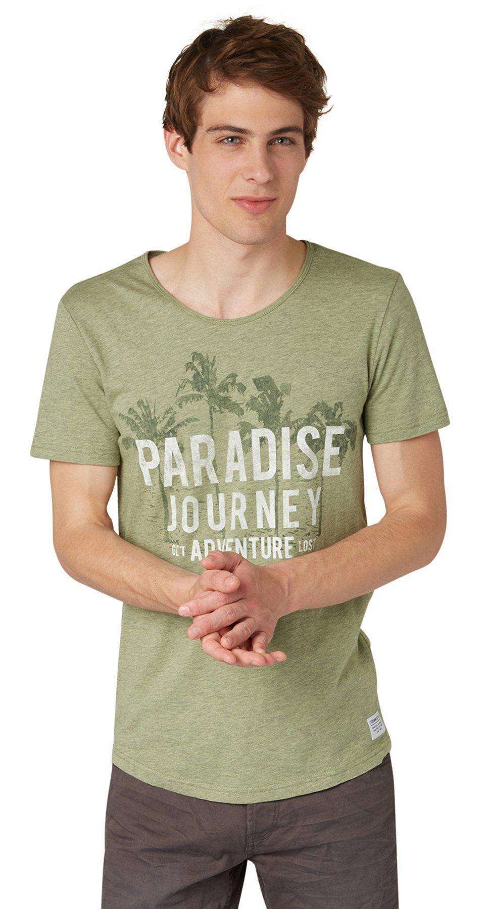 TOM TAILOR DENIM T-Shirt »Print-Shirt mit Schriftzug«