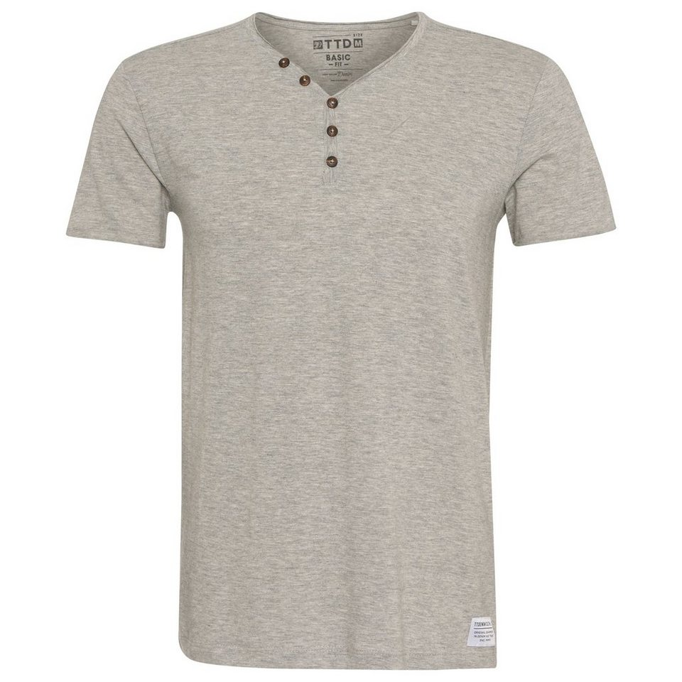 TOM TAILOR DENIM T-Shirt »loose slub serafino« in melange