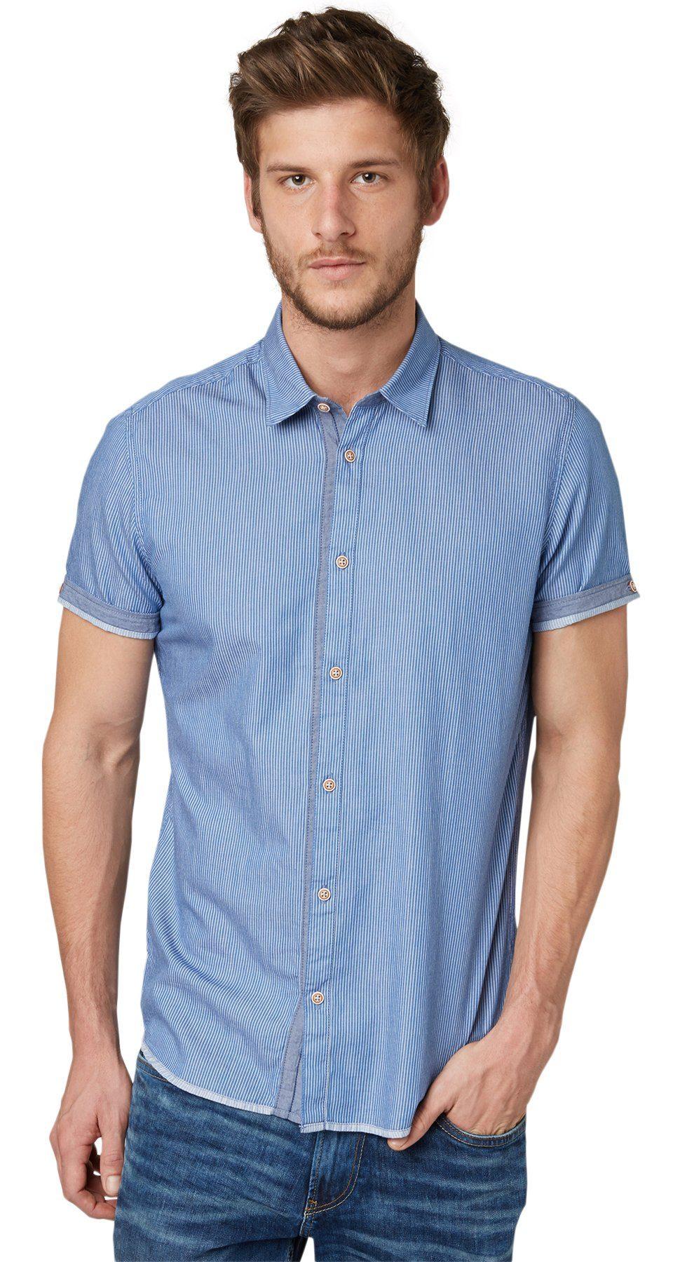 TOM TAILOR Hemd »Twill-Hemd mit Nadelstreifen«