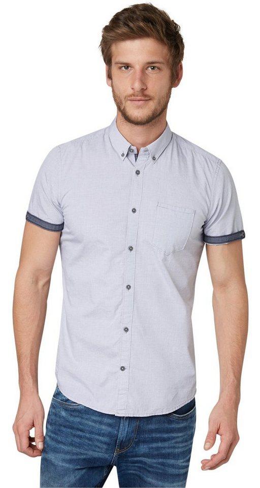 TOM TAILOR Hemd »Floyd dobby stripe shirt« in original