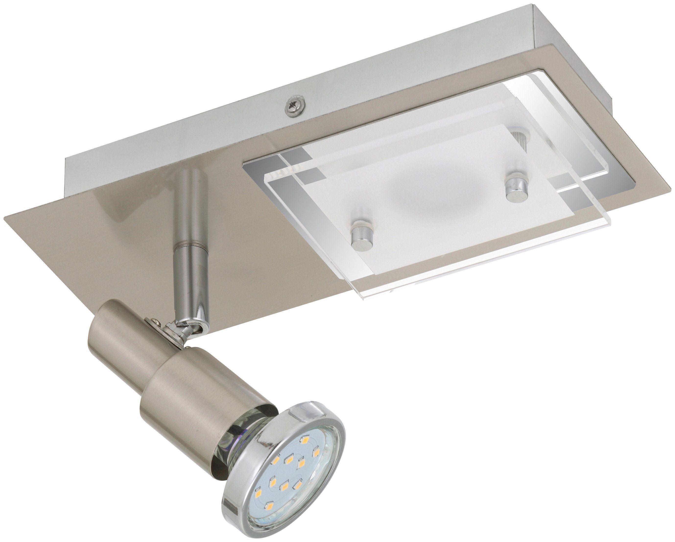 BRILONER LED-Deckenleuchte »Combinata«, 2-flammig, matt-nickel, 3W/5W