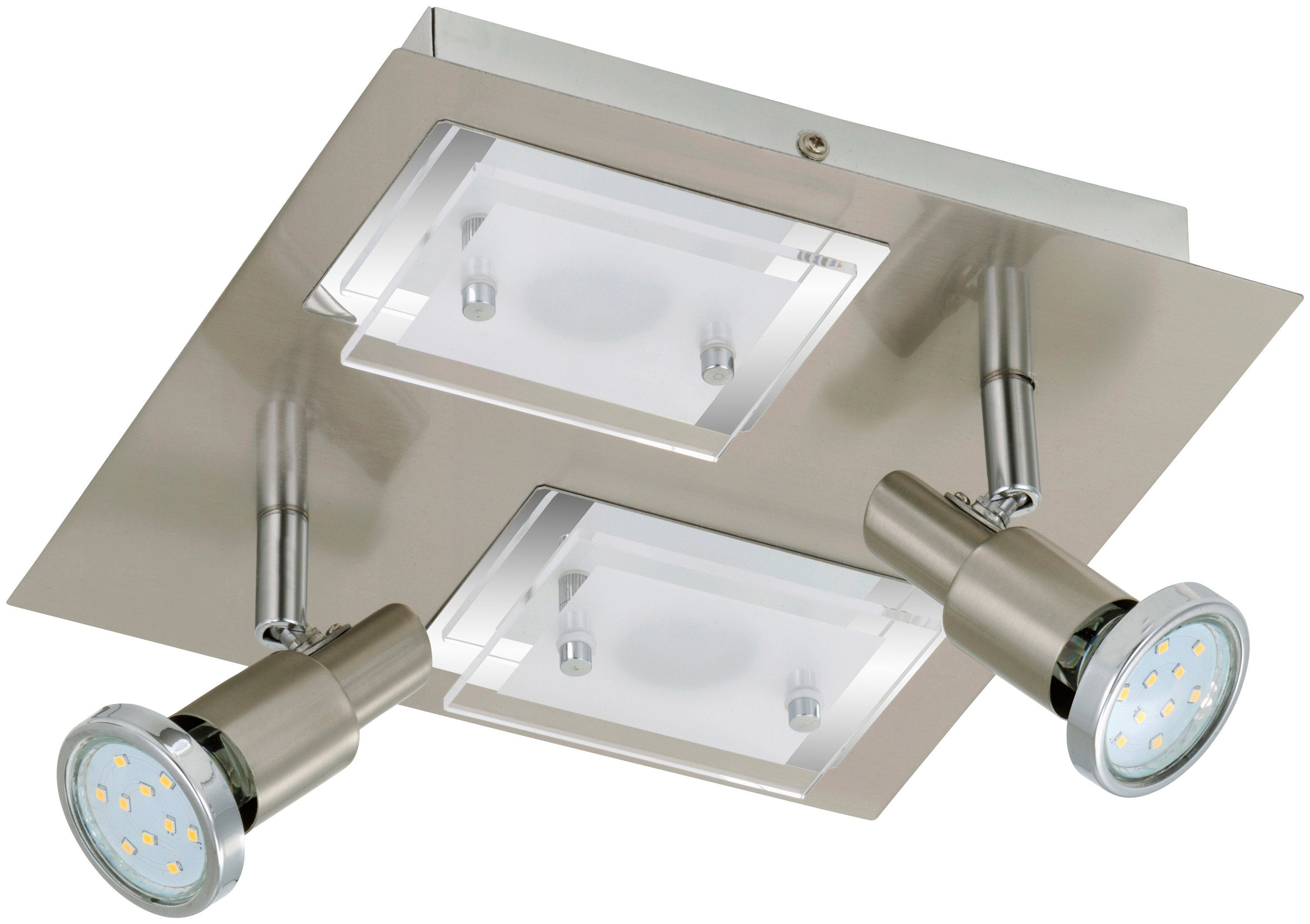 BRILONER LED-Deckenleuchte »Combinata«, 4-flammig, matt-nickel, 3W/5W