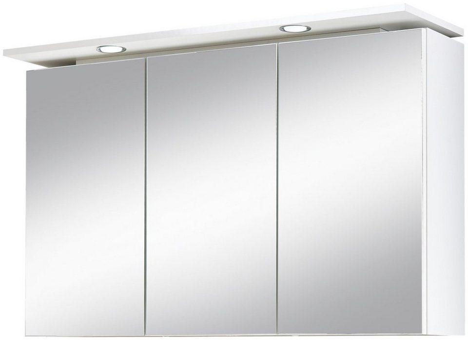 kesper spiegelschrank lugo breite 100 cm mit led beleuchtung online kaufen otto. Black Bedroom Furniture Sets. Home Design Ideas