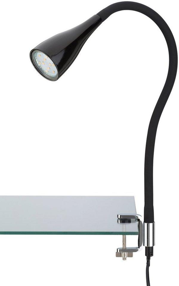 LED Klemmleuchte »Elasti«, schwarz, 3W in schwarz