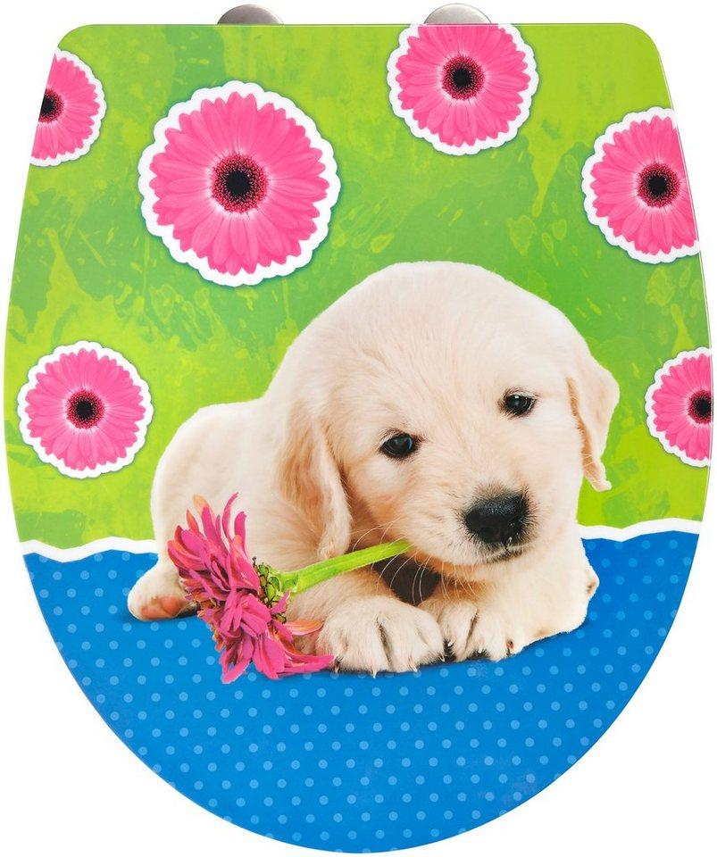 WC-Sitz »Imola Puppy«, Mit Absenkautomatik in bunt/blau/grün/rosa