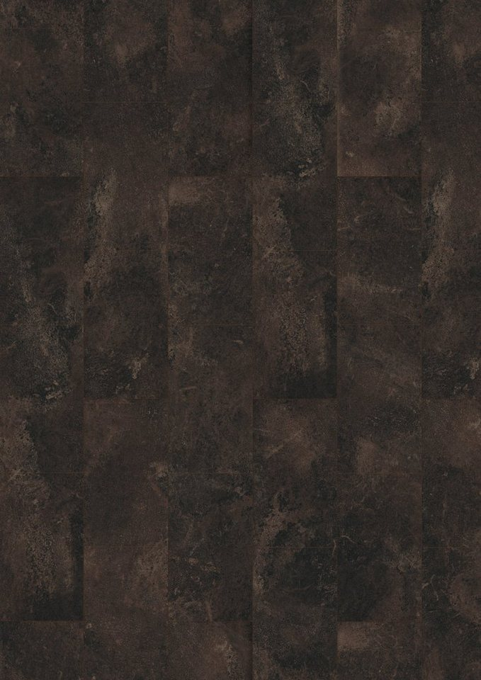 Laminat »Megafloor design+Large«, Stein schwarz Nachbildung in schwarz