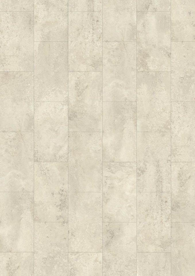 Laminat »Megafloor design+ Large«, Stein weiss Nachbildung in weiß