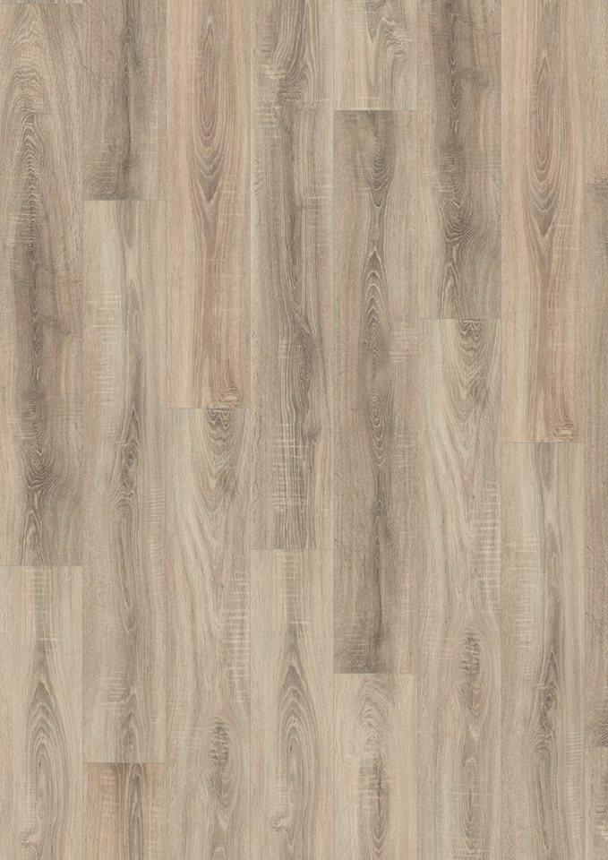 Laminat »Megafloor design+Classic«, Eiche sägerau grau Nachbildung in grau