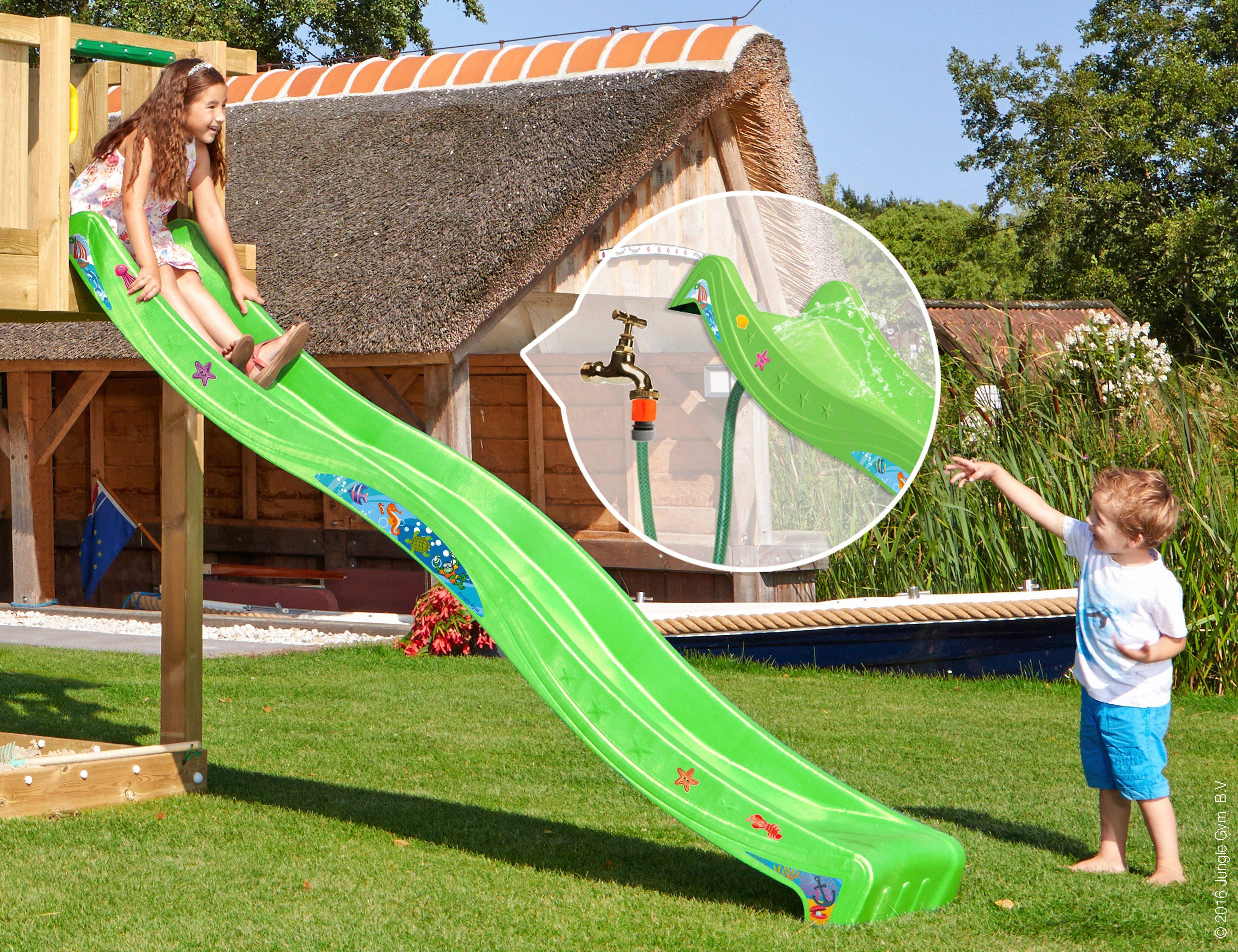 Klettergerüst Jungle Gym : Jungle gym cottage bridge grün garten kinder holz spielgeräte mit