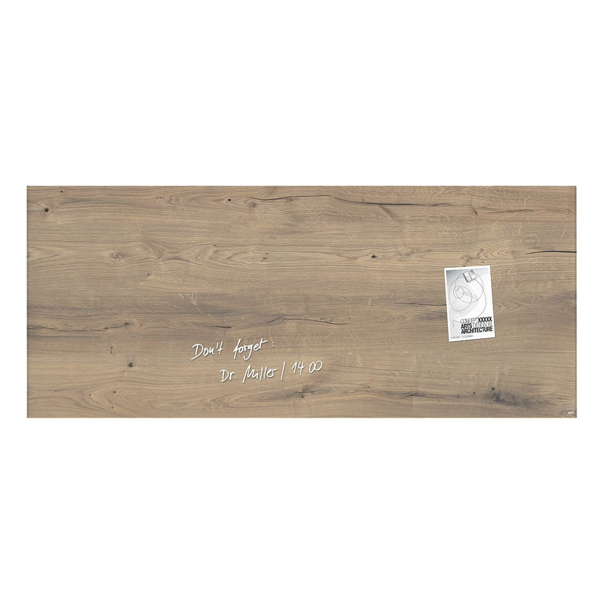 Sigel Glas-Magnettafel GL247 »artverum® Natural Wood«