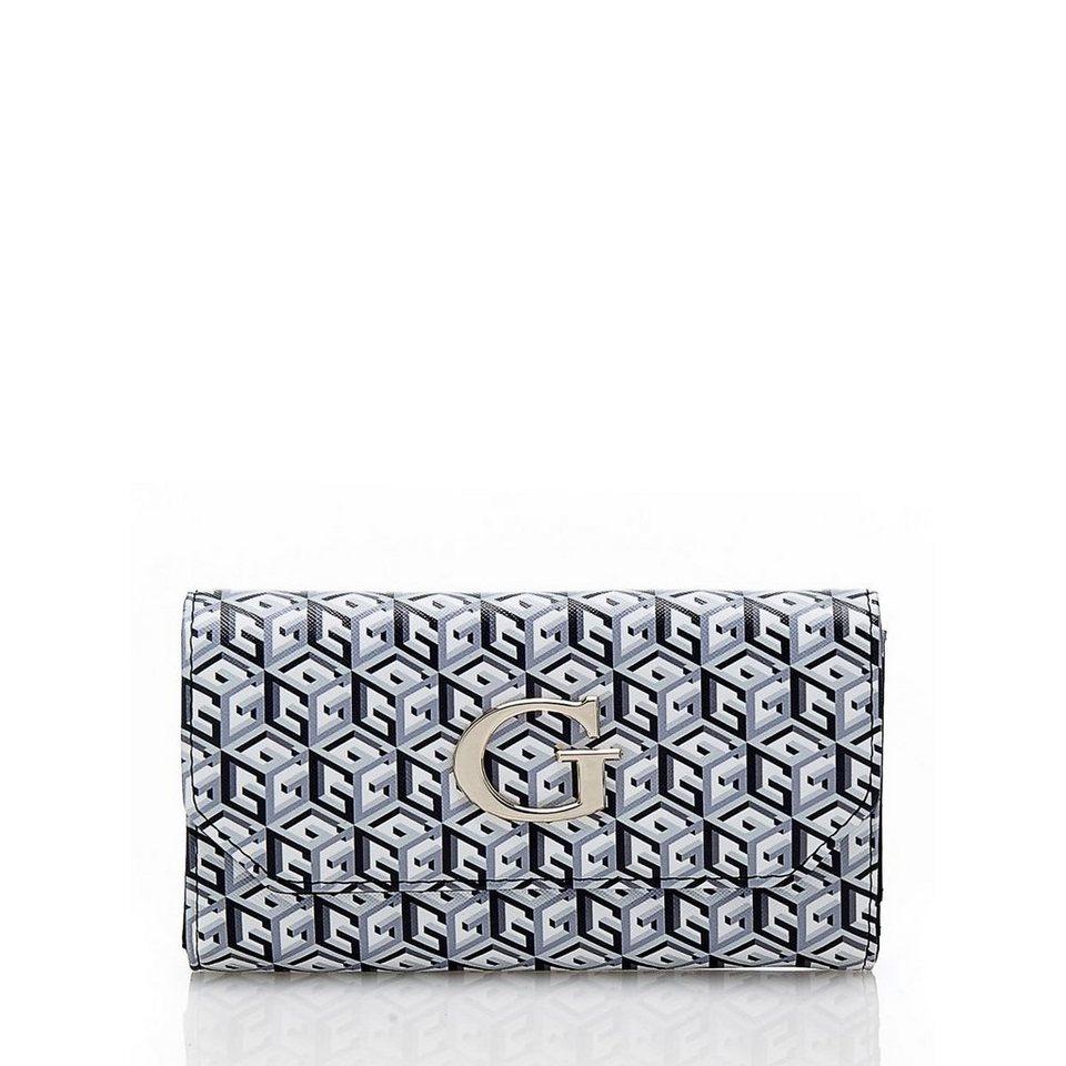 Guess Oversize-Portemonnaie G Cube in Schwarz