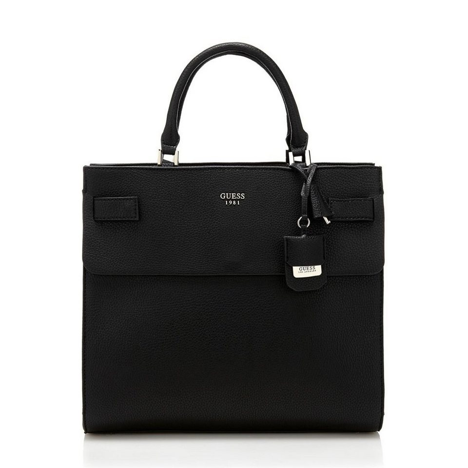 Guess LARGE HANDTASCHE CATE in Schwarz