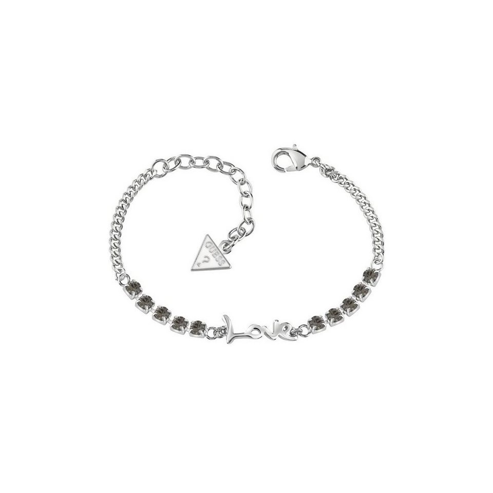 Guess VERSILBERTES ARMBAND LOVE in Silber