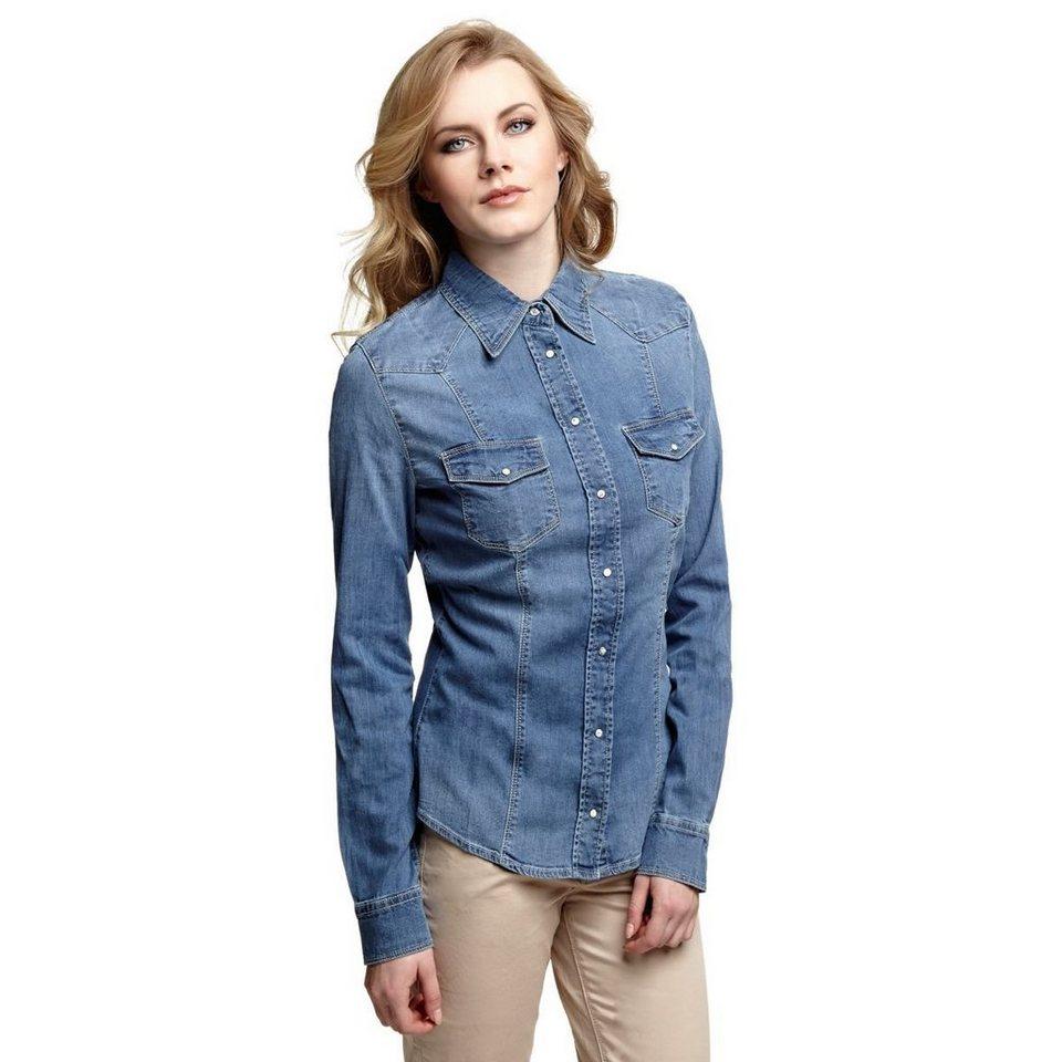 Guess jeanshemd online kaufen otto for Jeanshemd lang damen