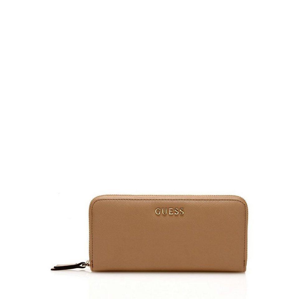 Guess Portemonnaie Sissi mit Logo in Mehrfarbig Braun