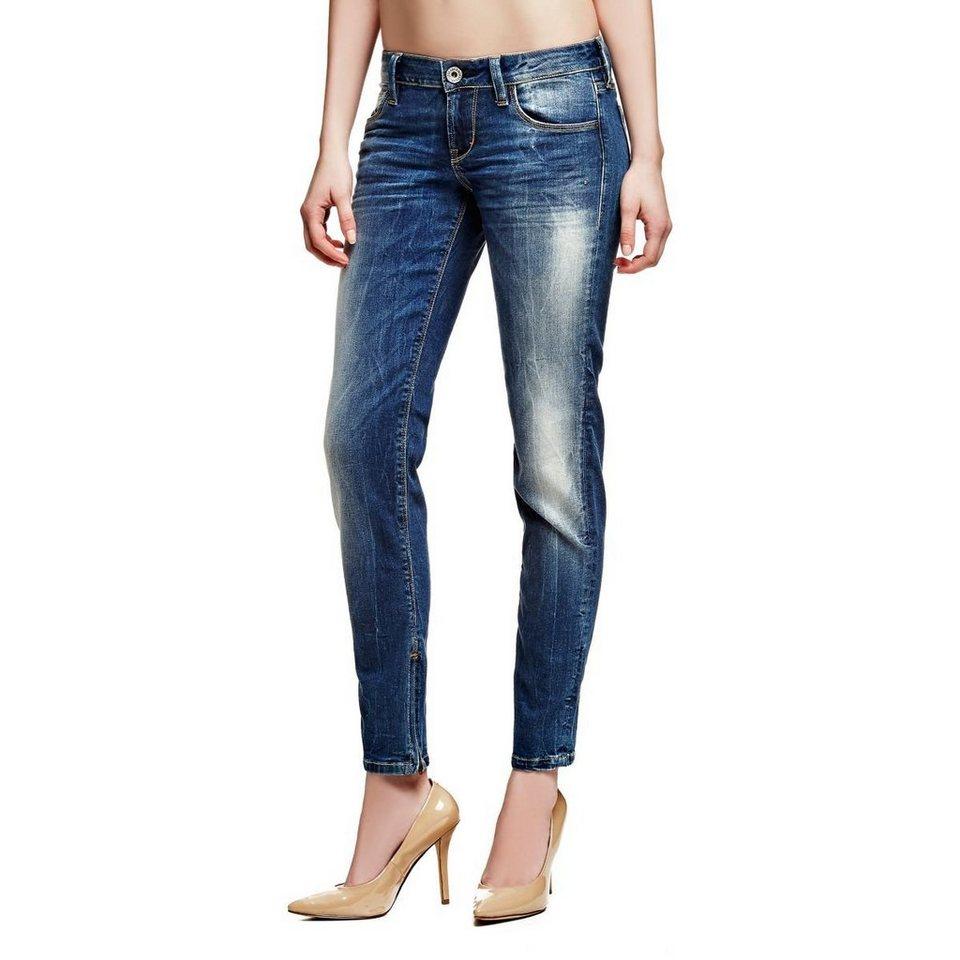 Guess Jeans »Skinny Ultra Low Beauty Wash« in Blau