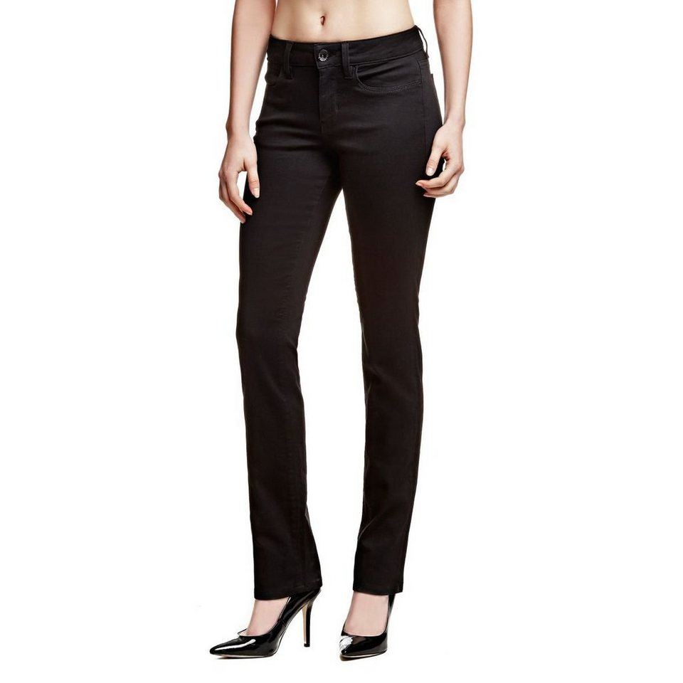 Guess Jeans »Cigarette Mid Black Power Shape« in Schwarz