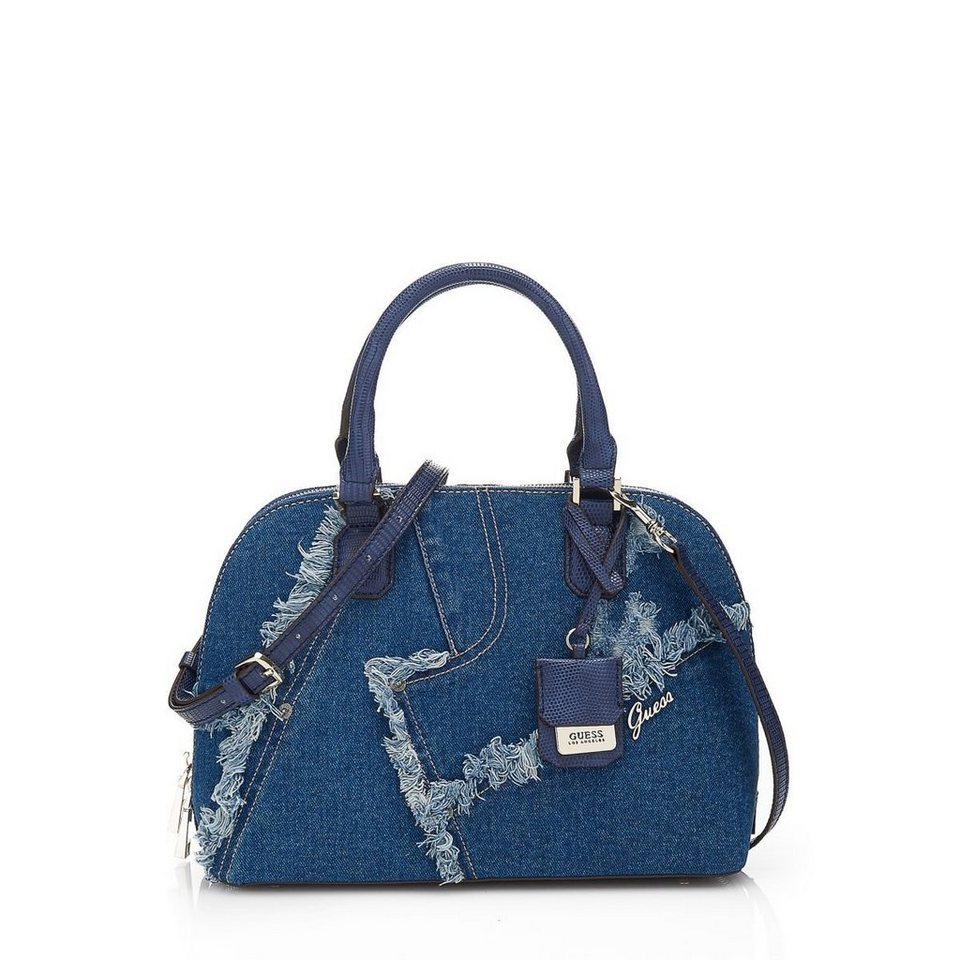 Guess Bauletto-Tasche Dani aus Denim in Blau