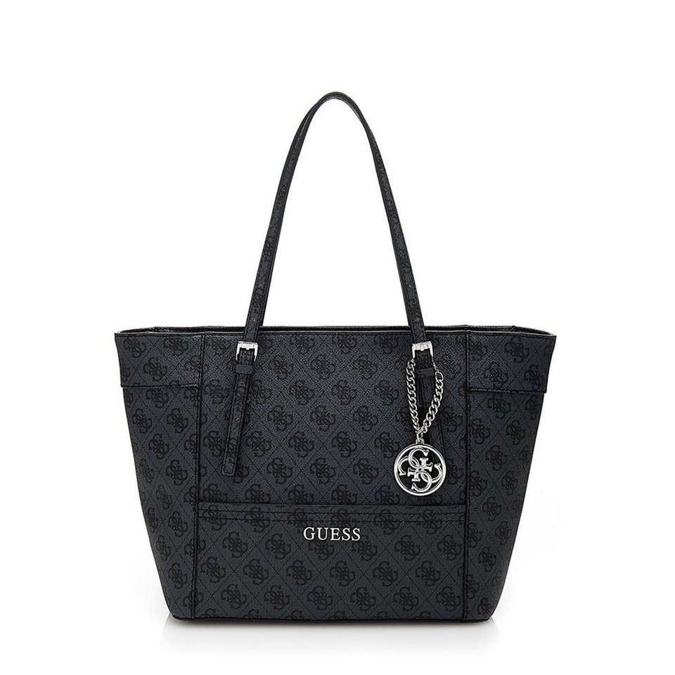 Guess KLEINER SHOPPER DELANEY LOGO in Dunkelgrau
