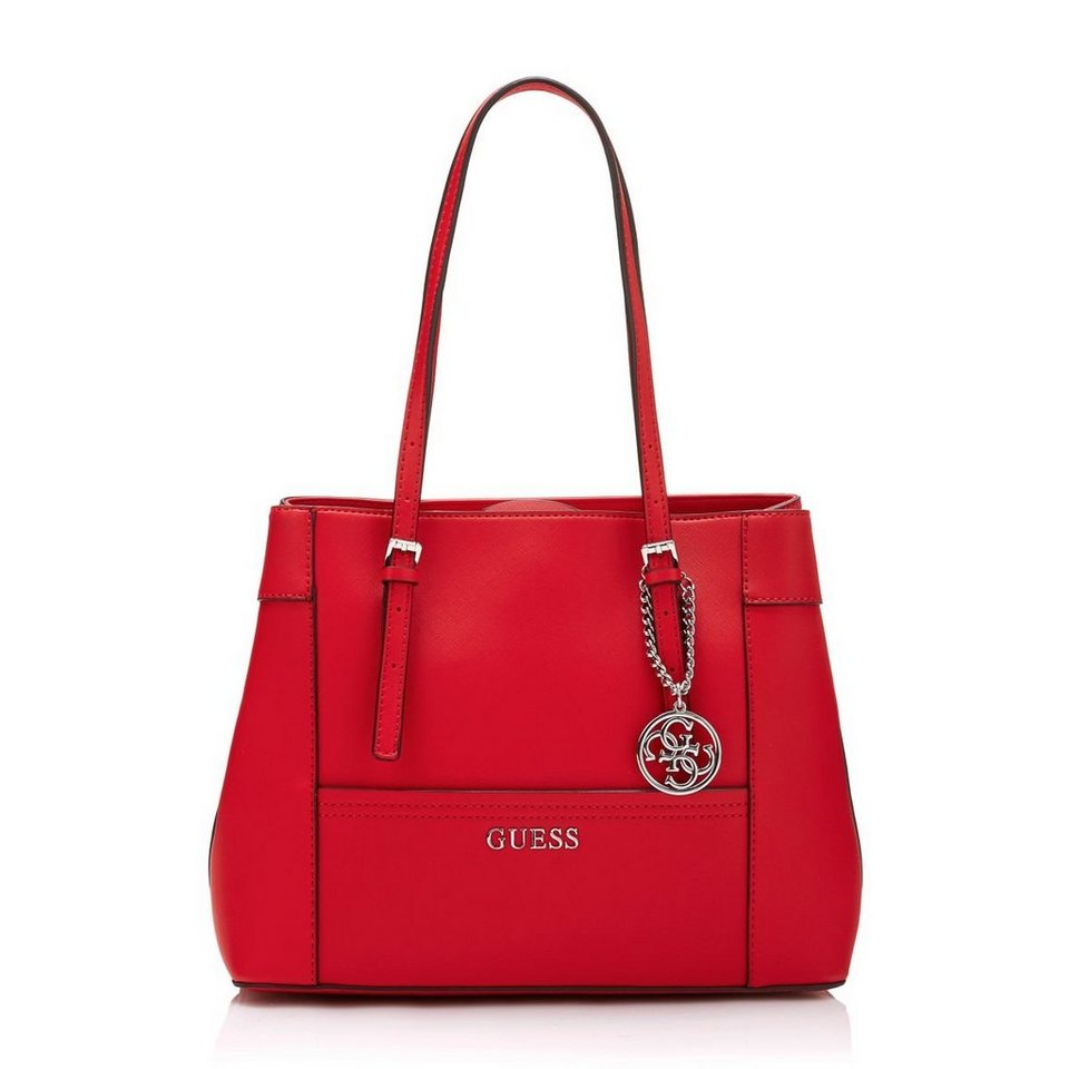 Guess Shopper Delaney Saffiano-Optik in Rot