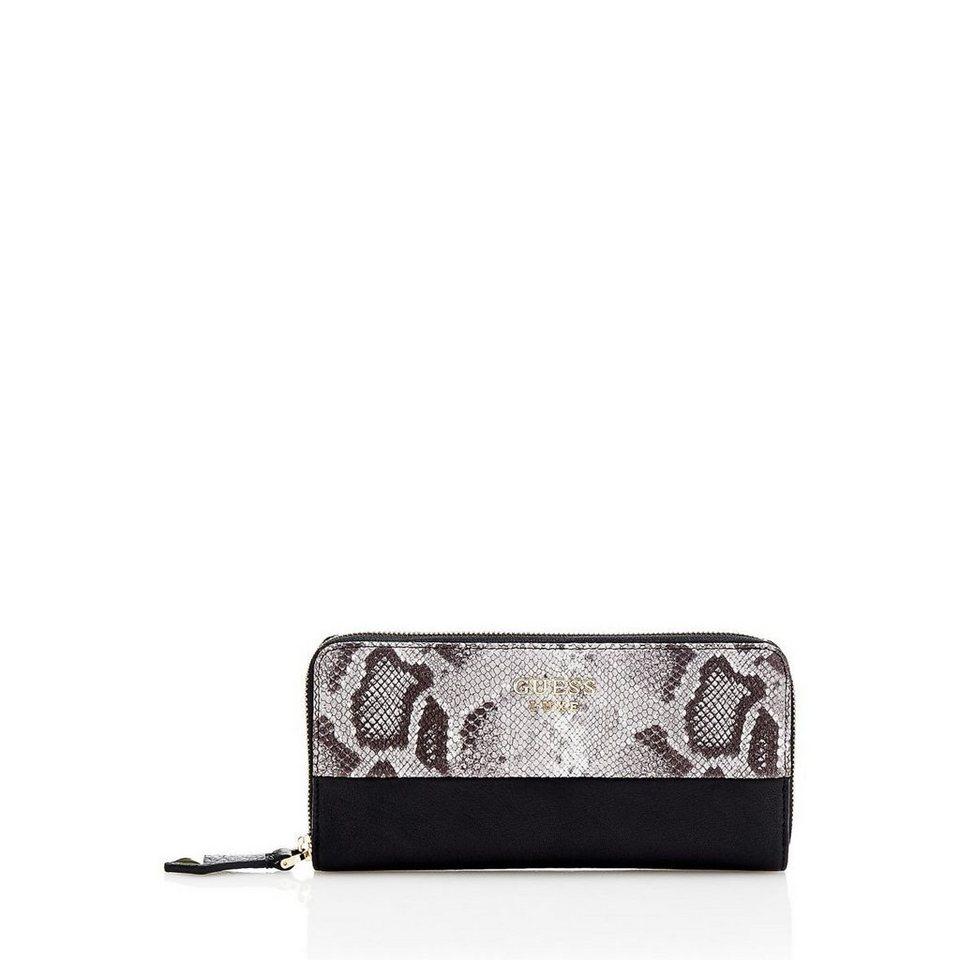 Guess Oversize-Portemonnaie Alessandra aus Leder in Mehrfarbig Schwarz