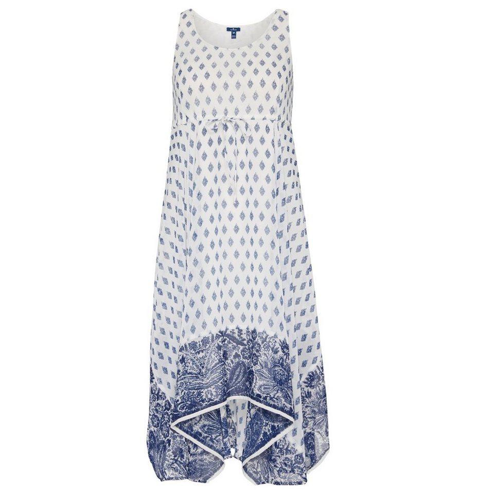 TOM TAILOR Kleid »feminines Sommerkleid mit Print« in whisper white