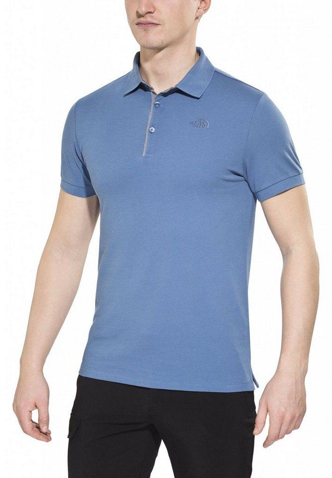 The North Face T-Shirt »Premium Polo Piquet Men« in blau