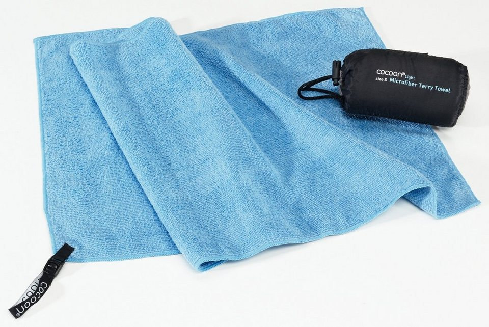 Cocoon Reisehandtuch »Microfiber Terry Towel Light Small« in blau